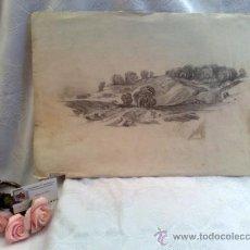 Arte: SIGLO XIX.- DIBUJO.- SOBRE PAPEL DE LA MARCA .- J.WATMAN TURKEY MILL 1874. Lote 33517256