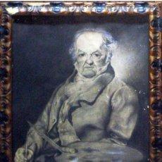 Arte: HERNANDEZ, A. (1935).- ALICANTINO (FALLECIDO). GOYA. GRAN DIBUJO AL CARBON, LÁPIZ Y CLARION. FDO... Lote 33610891