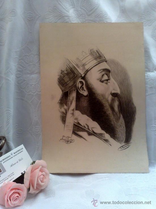 SIGLO XIX.- DIBUJO FIRMADO.... J. BORBOLLA (Arte - Dibujos - Modernos siglo XIX)