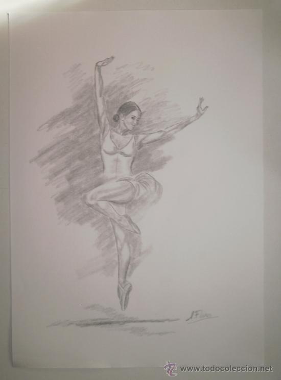 Dibujo Lamina A Lapiz Bailarina 29 2x41 1 Cm Comprar Dibujos