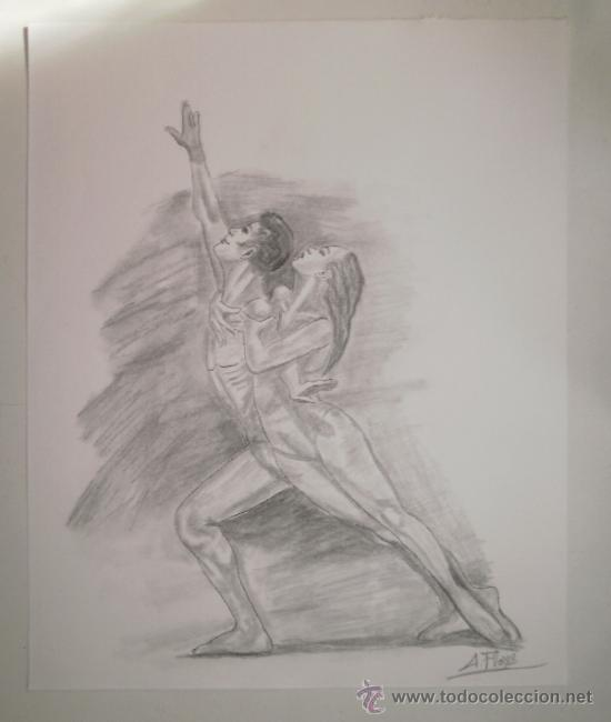 dibujo lmina a lpiz bailarines 292x367 cm  Comprar Dibujos