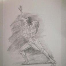 Arte: DIBUJO LÁMINA A LÁPIZ. BAILARINES. 29.2X36.7 CM. Lote 33726323