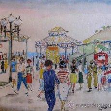 Arte: DIBUJO COLOREADO AÑOS 50 DE AGUILAR MORE. Lote 33725830