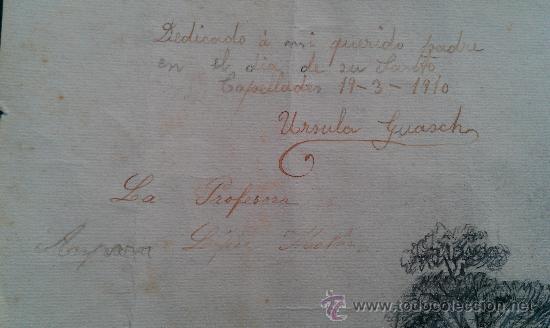 Arte: 1910. DIBUJO ORIGINAL DE CAPELLADES POR URSULA GUASCH ANOIA IGUALADA 46 X 29 CM GUASCH HERMANOS - Foto 3 - 181102311