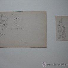 Arte: DOS A LÁPIZ .ILEGIBLE. Lote 33897316