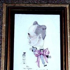 Arte: CARICATURA A TINTA Y COLOR.PACO FLAMARICH.LLAÇ SAGRAT, 1943. Lote 33957780