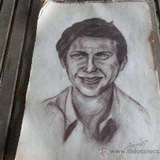 Arte: DIBUJO PINTURA RETRATO ORIGINAL AÑOS 60 PARECE TORERO MANUEL BENITEZ EL CORDOBES. Lote 34031439