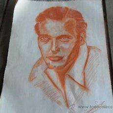 Arte: DIBUJO PINTURA RETRATO ORIGINAL AÑOS 60 ARTISTA DE CINE. Lote 34031539