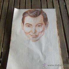 Arte: DIBUJO PINTURA RETRATO ORIGINAL AÑOS 60 ARTISTA DE CINE. Lote 34031742