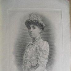 Arte: 1906 LA REINA VICTORIA EUGENIA GRABADA POR BARTOLOMÉ MAURA. Lote 34033723