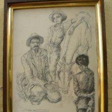 Arte: LITOGRAFIA - FIRMADA PORTA - 1946 - LABRIEGOS. Lote 34356821