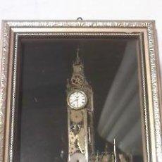 Arte: COLLAGE ORIGINAL RELOJERÍA BIG BEN DE LONDRES POR J. AMMON AUTOGRAFIADA.. Lote 34365359