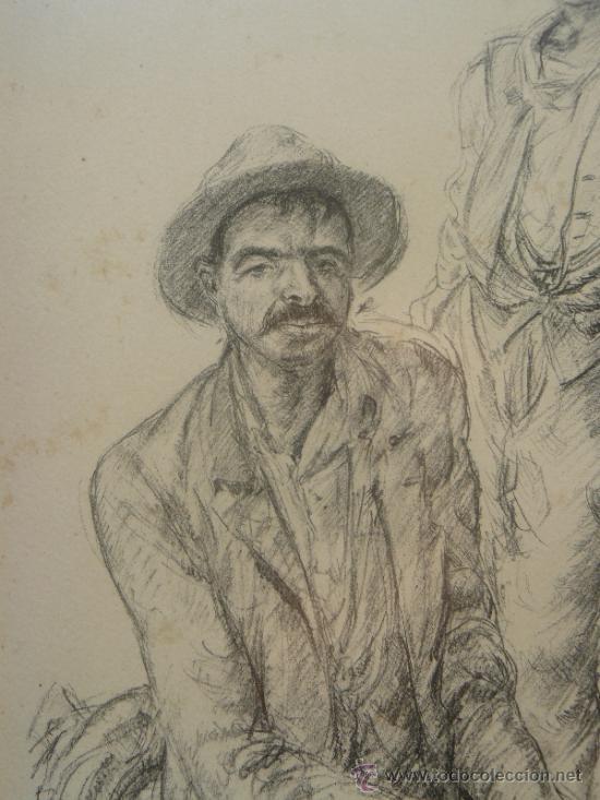 Arte: LITOGRAFIA - FIRMADA PORTA - 1946 - LABRIEGOS - Foto 2 - 34356821
