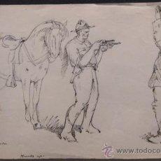 Arte: DIBUJO A PLUMA Y LAPIZ DE PERE / PEDRO YNGLADA. FECHADO 1917. Lote 34422577