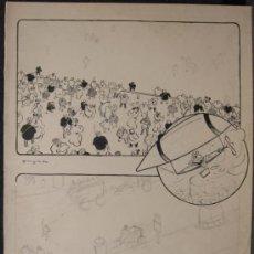 Arte: DIBUJO A TINTA Y LAPIZ DE PERE/PEDRO YNGLADA (CUBA 1881 - BARCELONA 1958). DIFERENTES TRASNPORTES. Lote 34424889