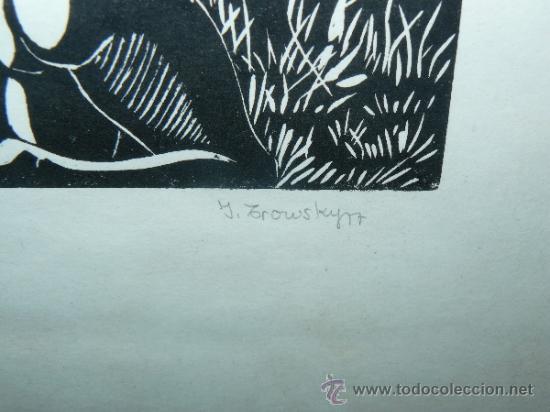 Arte: LITOGRAFIA - FIRMADO I TROWSKY - COMPOSICIÓN - 1977 - Foto 5 - 34454503