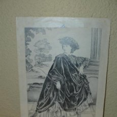Arte: DIBUJO - FIRMADO RALPH - 1848 - PERSONAJE FEMENINO -. Lote 35068058