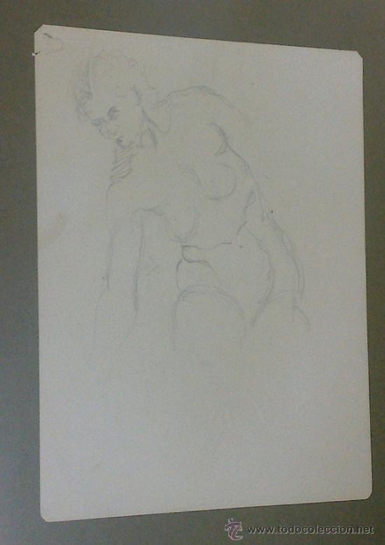 Arte: -.MUJER.- PAREJA DE DIBUJOS CON DESNUDOS FEMENINOS. - Foto 13 - 35108946