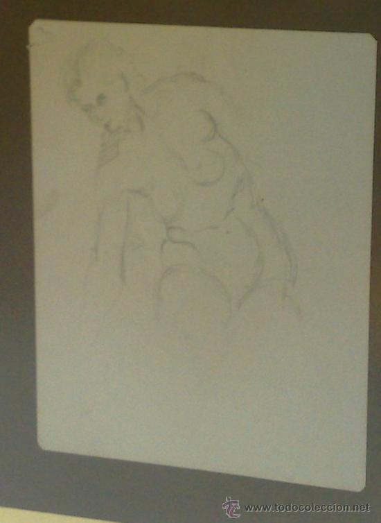 Arte: -.MUJER.- PAREJA DE DIBUJOS CON DESNUDOS FEMENINOS. - Foto 5 - 35108946