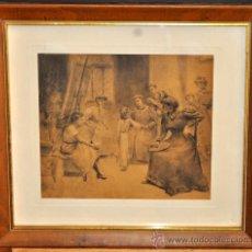 Arte: CIRCULO DE ARCADI MAS Y FONTDEVILA (1852 - 1934) DIBUJO CARBÓN. EN LA ACADEMIA. Lote 35228376
