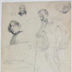 Arte: DOS DIBUJOS DE SALVADOR FERRER, VALENCIA 1893. Lote 35258265