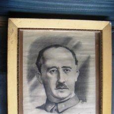 Arte: ANTIGUO CUADRO DIBUJO A LAPIZ, FRANCISCO FRANCO, DEDICATORIA Y FIRMA AUTOR ABELARDO GARCIA AÑO 1939. Lote 35446798