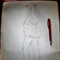 Arte: DESNUDO DE FINALES DEL XIX-PP DEL S.XX SALIO DE UN ESTUDIO DE UN PINTOR MADRILEÑO. Lote 35426860