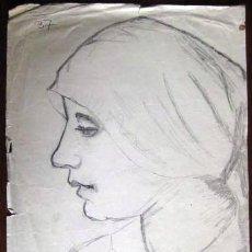 Arte: DIBUJO A LAPIZ. ESCUELA ESPAÑOLA. AÑOS 20-30. ENVIO GRATIS¡¡¡. Lote 35778679