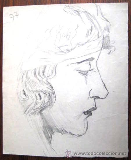 DIBUJO A LAPIZ. ESCUELA ESPAÑOLA. AÑOS 20-30. ENVIO GRATIS¡¡¡ (Arte - Dibujos - Contemporáneos siglo XX)