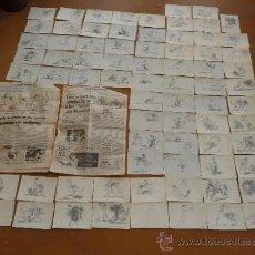 Arte: LOTE DE 75 DIBUJOS ORIGINALES DE DOMINGUEZ, DE TOROS, TAUROMAQUIA. NUMERADOS.. Lote 219149202
