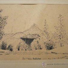 Arte: DIBUJO A TINTA, FIRMADO 1949- DEDIC.PARA MADAME MONTESINOS MOSS LEA- FIRMA B.CONDE( RESTO ILEGIBLE. Lote 36036922