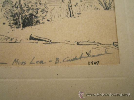 Arte: Dibujo a tinta, firmado 1949- dedic.Para Madame Montesinos Moss Lea- Firma B.Conde( resto ilegible - Foto 2 - 36036922