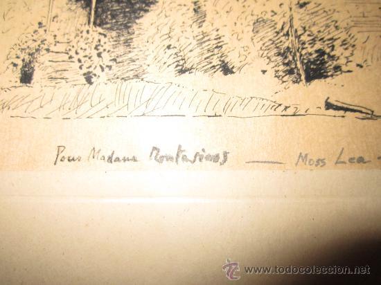 Arte: Dibujo a tinta, firmado 1949- dedic.Para Madame Montesinos Moss Lea- Firma B.Conde( resto ilegible - Foto 3 - 36036922
