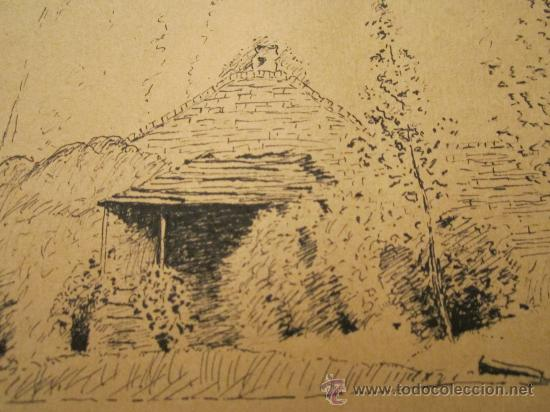 Arte: Dibujo a tinta, firmado 1949- dedic.Para Madame Montesinos Moss Lea- Firma B.Conde( resto ilegible - Foto 4 - 36036922