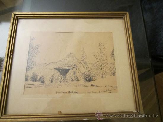 Arte: Dibujo a tinta, firmado 1949- dedic.Para Madame Montesinos Moss Lea- Firma B.Conde( resto ilegible - Foto 7 - 36036922