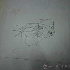 Arte: ANTIGUO DIBUJO BOCETO SURRALISMO FIRMA A DESCIFRAR. Lote 36136483