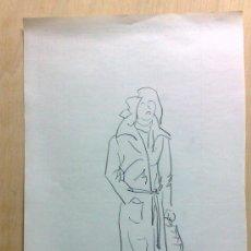 Arte: 2ª MITAD DEL XX. INTERESANTE DIBUJO A CARBONCILLO - PAPEL.. Lote 36184322