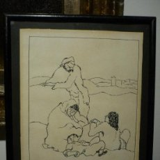 Arte - DIBUJO ATRIBUIDO A XAVIER NOGUES (1873-1940). FIRMADO BABEL. - 36249652