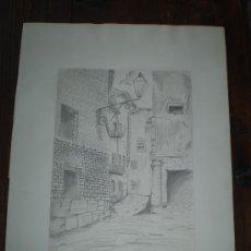 Arte: DIBUJO S XX A LAPIZ FIRMADO Y FECHADO. Lote 36257866