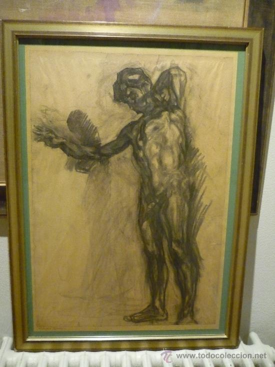 DIBUJO DE FRANCESC GIMENO ARASA (1857-1927). (Arte - Dibujos - Modernos siglo XIX)