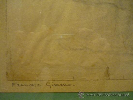 Arte: DIBUJO DE FRANCESC GIMENO ARASA (1857-1927). - Foto 5 - 36278511