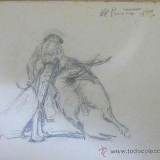Arte: BONITO DIBUJO ORIGINAL HECHO A LAPIZ DE TEMA TAURINO. Lote 36321552