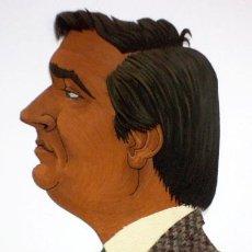 Arte: FANTÁSTICA Y MUY CURIOSA CARICATURA DE TONY SAM. DIBUJO Y TELA. ANTONIO SAMANIEGO. AÑO 87 BODEGAS. Lote 36321926