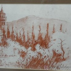 Arte: COLL BARDOLET. VALLDEMOSA. MALLORCA. SANGUINA SOBRE PAPEL. . Lote 36373520