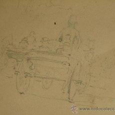 Arte: ORIGINAL DIBUJO A LAPIZ, FIRMADO SEGUNDO MATILLA, 1904, MADRID. Lote 36416945