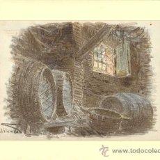 Arte: DIBUJO AL CARBÓN Y CERAS FIRMADO POR M. VILOMARA (MAURICI VILOMARA). CA. 1895. 31 X 22 CM.. Lote 36417040