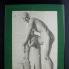 Arte: DIBUJO ACADÉMICO S. XIX, CARBONCILLO.. Lote 36430527