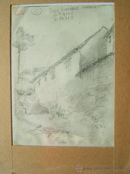 Arte: PINTURA. DIBUJOS LAPIZ O CARBONCILLO - JOSE LUPIAÑEZ Y CARRASCO - (1864-1938 MALAGA) - 1880/1890 ?. - Foto 4 - 36555367