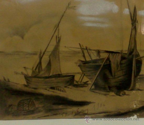 Arte: F. MORELL Y FORTUNY, 1906.- DIBUJO FIRMADO Y FECHADO. - Foto 5 - 36580483