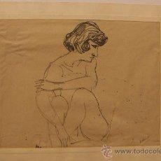 Arte: VIEJO DIBUJO FIRMADO A.PLANES 45. Lote 36664333